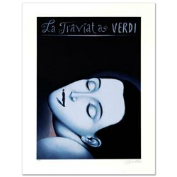 La Traviata I  Limited Edition Lithograph by Rafal Olbinski, Numbered and Hand Signed with Certific