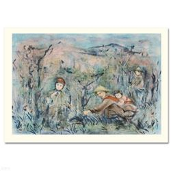 """""""Kow Loon Peach Tree"""" Limited Edition Lithograph by Edna Hibel (1917-2014), Numbered and Hand Signed"""