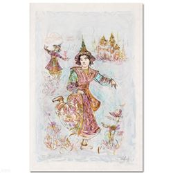 """Thai Dancers"" Limited Edition Lithograph by Edna Hibel, Numbered and Hand Signed with Certificate o"