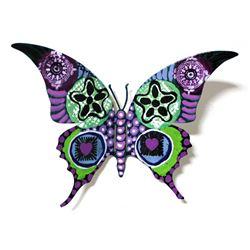 "Patricia Govezensky- Original Painting on Cutout Steel ""Butterfly CCXLIX"""