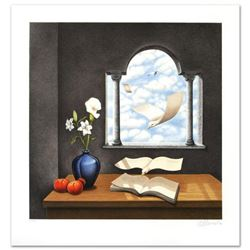 """Rafal Olbinski- Hand Pulled Original Lithograph """"Calendar of Yesterday's Wishes"""""""