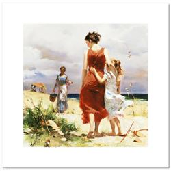 """Pino (1931-2010), """"Breezy Days"""" Limited Edition on Canvas, Numbered and Hand Signed with Certificate"""