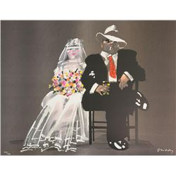 """Waldemar Swierzy (1931-2013)- Hand Pulled Original Lithograph """"Great expectations"""""""