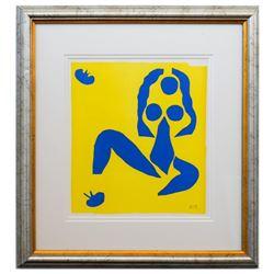"Henri Matisse- Lithograph ""Verve - Nu bleu IV"""