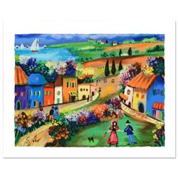 """Shlomo Alter, """"The Village"""" Limited Edition Serigraph, Numbered and Hand Signed with Certificate of"""