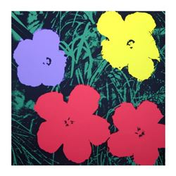 "Andy Warhol ""Flowers 11.73"" Silk Screen Print from Sunday B Morning."