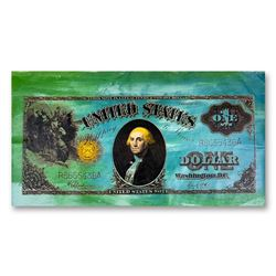 "Steve Kaufman (1960-2010), ""Old One Dollar Bill"" Hand Signed and Numbered Limited Edition Hand Pulle"