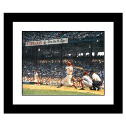 """Rose Hitting in Crosley Field"" Framed Archival Photograph Featuring Pete Rose Taken by Photographer"