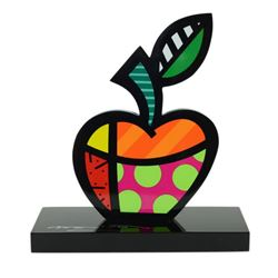 "Romero Britto""Big Apple"" Hand Signed Limited Edition Sculpture; Authenticated."