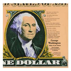 "Steve Kaufman (1960-2010), ""George Washington"" Limited Edition Hand Pulled Silkscreen on Canvas, Num"
