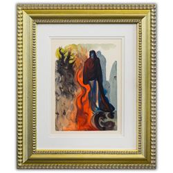 "Salvador Dali- Original Color Woodcut on B.F.K. Rives Paper ""Inferno 34"""