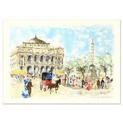 """Urbain Huchet, """"Paris"""" Limited Edition Lithograph, Numbered and Hand Signed."""