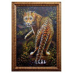 "Vera V. Goncharenko- Original Giclee on Canvas ""Looking For Food"""