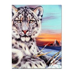 """""""Snow Leapord Of China"""" Limited Edition Giclee on Canvas by Martin Katon, Numbered and Hand Signed."""