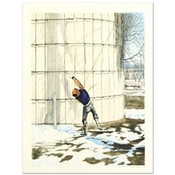 """William Nelson, """"The Snowball Thrower"""" Limited Edition Lithograph, Numbered and Hand Signed by the A"""
