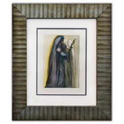 "Salvador Dali- Original Color Woodcut on B.F.K. Rives Paper ""Paradise 32"""