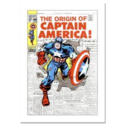 """Marvel Comics, """"Captain America #109"""" Numbered Limited Edition Canvas by Jack Kirby (1917-1994) with"""