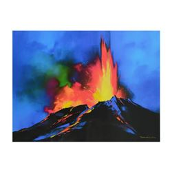 """Thomas Leung, """"Volcanic Majesty"""" Limited Edition on Canvas, Numbered and Hand Signed with Letter of"""