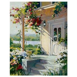 """Marilyn Simandle, """"Summer Villa"""" Limited Edition on Canvas, Numbered and Hand Signed with Letter of"""