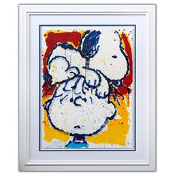"""Tom Everhart- Hand Pulled Original Lithograph """"Hair Club For Dogs"""""""