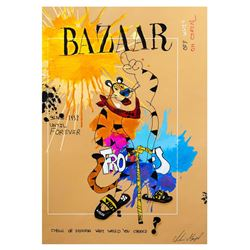 "Shani Moyal- Original Mixed Media ""Tony the Tiger"""
