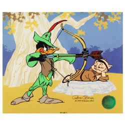 """""""Robin Hood: Bow & Error"""" Limited Edition Animation Cel with Hand Painted Color. Numbered and Hand S"""