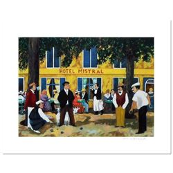 """Guy Buffet, """"Hotel Mistral"""" Limited Edition Serigraph; Numbered and Hand Signed with Certificate of"""