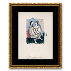 "Pablo Picasso- Lithograph on Arches Paper ""La Couple"""