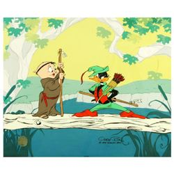 """Buck and a Quarter Staff"" by Chuck Jones (1912-2002). Limited Edition Animation Cel with Hand Paint"