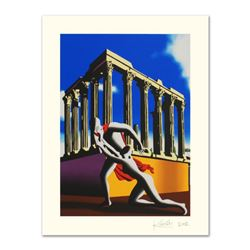 "Mark Kostabi, ""Eternal City"" Limited Edition Serigraph, Numbered and Hand Signed with Certificate."