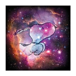 """Peanuts, """"Reach for the Stars"""" Hand Numbered Canvas (40""""x40"""") Limited Edition Fine Art Print with Ce"""