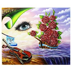 """Eugene Poliarush- Original Oil on Canvas """"Ship of Flowers"""""""