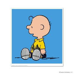 """Peanuts, """"Charlie Brown: Blue"""" Hand Numbered Limited Edition Fine Art Print with Certificate of Auth"""