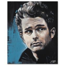 """""""James"""" Limited Edition Giclee on Canvas by Stephen Fishwick, Numbered and Signed. This piece comes"""