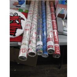 6 ROLLS OF ASSORTED GIFT WRAP