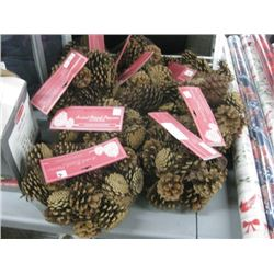 10 PC SCENTED NATURAL PINECONES