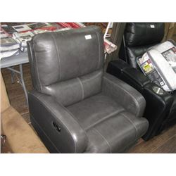 GREY POWERED RECLINER
