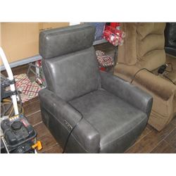 GREY ELECTRIC RECLINER