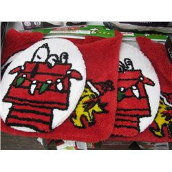PAIR OF 2PC BATH MAT SET PEANUTS