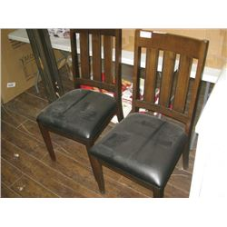 PAIR OF BONDED KITCHEN CHAIRS