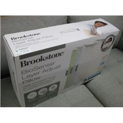 BROOKSTONE BIOSENSE LAYER ADJUSTABLE PILLOW