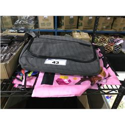 ROOTS 73 GREY LAPTOP CASE & ASSORTED LOQI FOOD GRADE CASES / WETBAGS