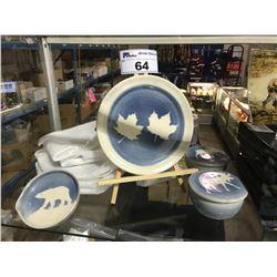 ASSORTED BLUE / WHITE MADE IN CANADA CERAMIC DISHWARE