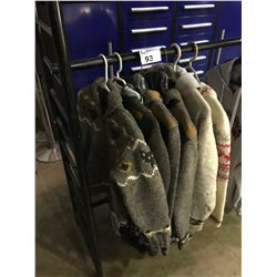 6 ASSORTED SIZED LAUNDROMAT & CANADA BRANDED SWEATER JACKETS