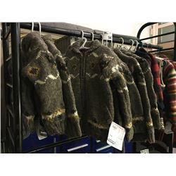 12 ASSORTED CHILDRENS SIZED LAUNDROMAT SWEATER JACKETS, SWEATER VEST & 2 NORTHERN SOUVENIR JACKETS