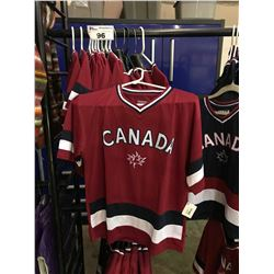 15 ASSORTED CHILDRENS SIZED CANADA BRANDED JERSEYS