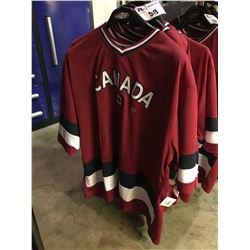 6 ASSORTED SIZED CANADA BRANDED JERSEYS