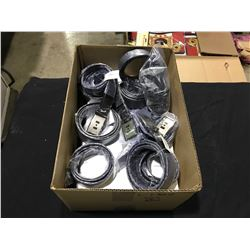 BOX OF ASSORTED BLACK CANADA BRANDED MENS BELTS