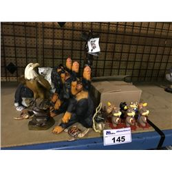 ASSORTED ANIMAL DECORATIVE STATUES