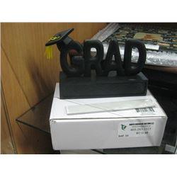 GRAD WORD TABLE DECOR W/ BOX